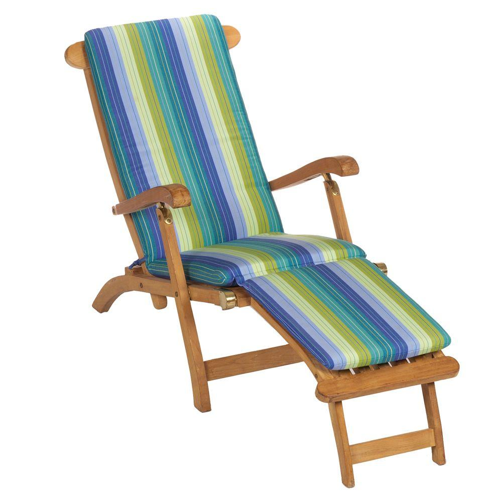 Home Decorators Collection Sunbrella Seaside Seville Outdoor Chaise Lounge