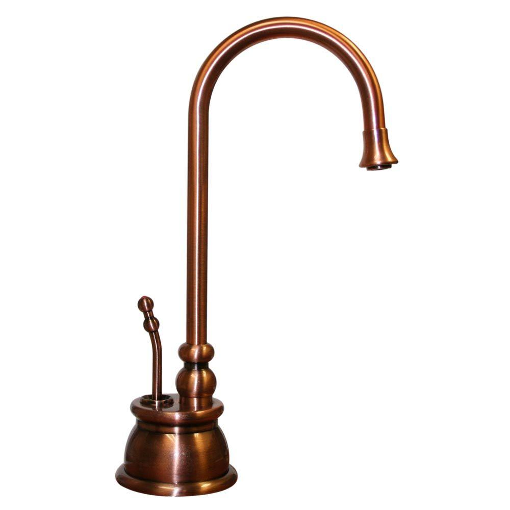 Forever Hot Single-Handle Instant Hot Water Dispenser in Antique Copper