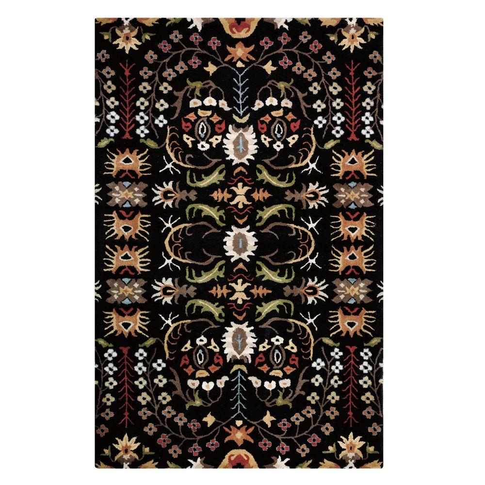 Home Decorators Collection Lumiere Black 5 ft. 3 in. x 8 ft. 3 in. Area Rug