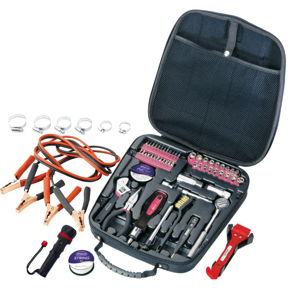Travel and Automotive Tool Kit in Pink (64-Piece)
