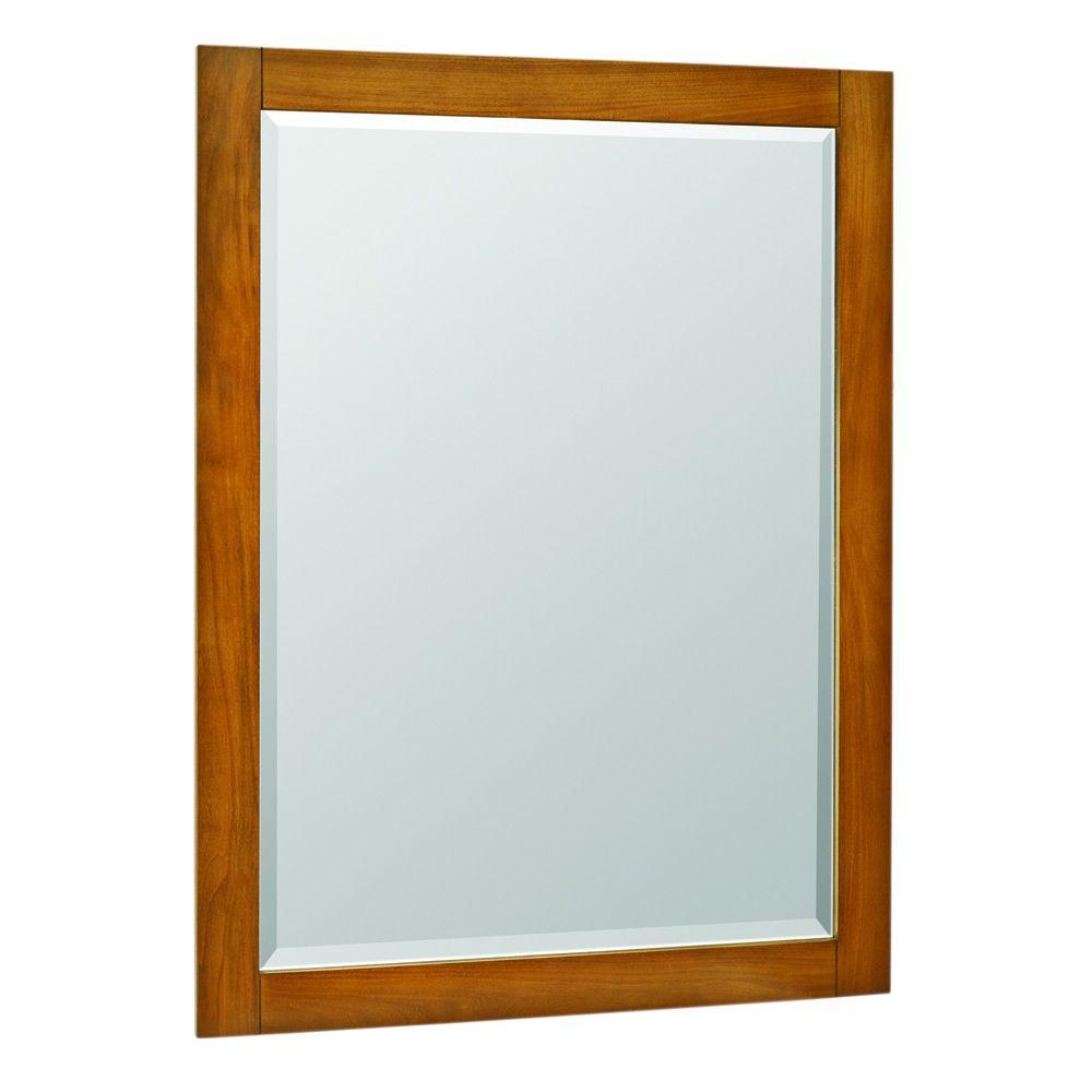 American Classics Palisades 40 in. L x 30 in. W Poplar Framed Wall-Mount Mirror in Bourbon Cherry
