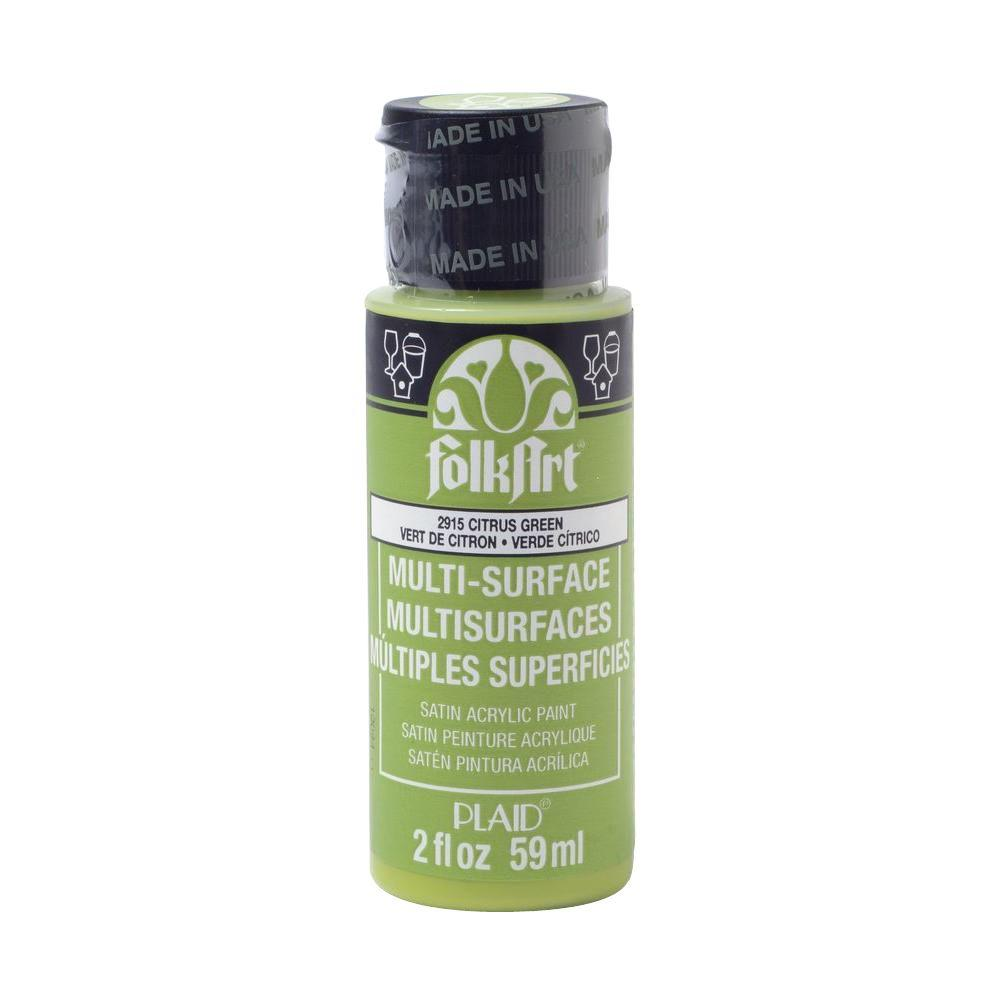 FolkArt 2 oz. Citrus Green Multi Surface Paint-2915 - The Home