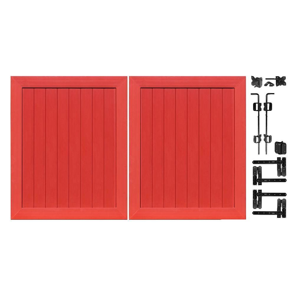 Pro Series 5 ft. W x 6 ft. H Barn Red