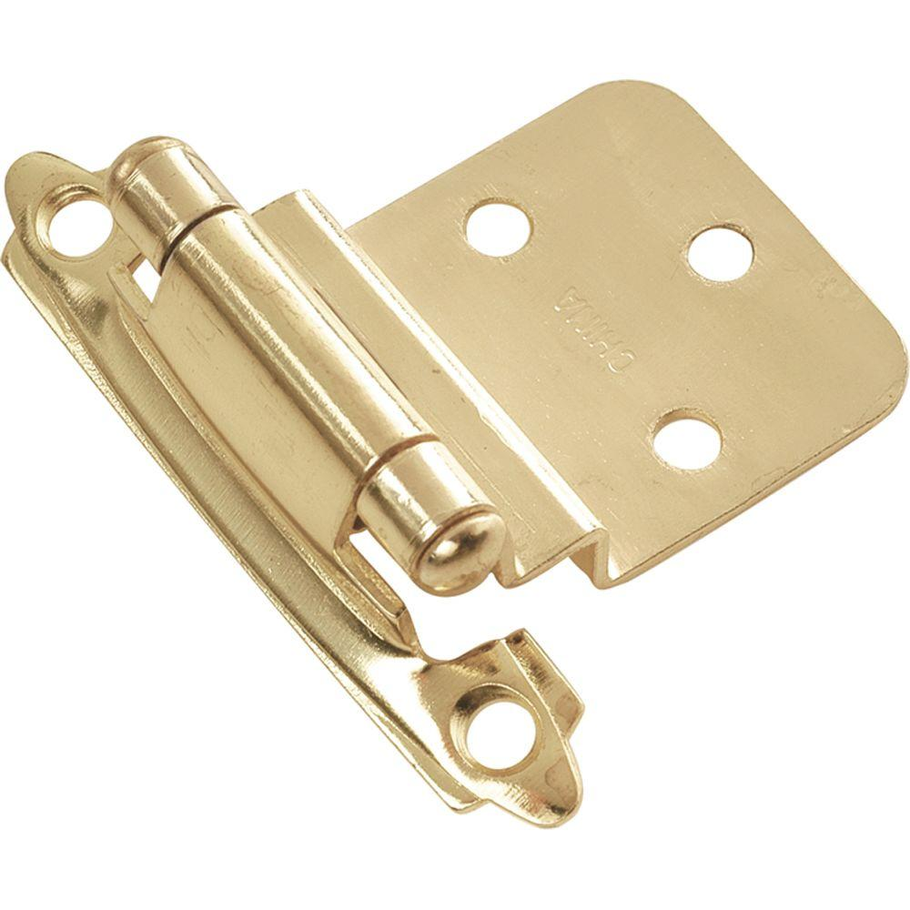 Hickory Hardware Polished Brass Surface Self-Closing Hinge-P143-3 - The Home