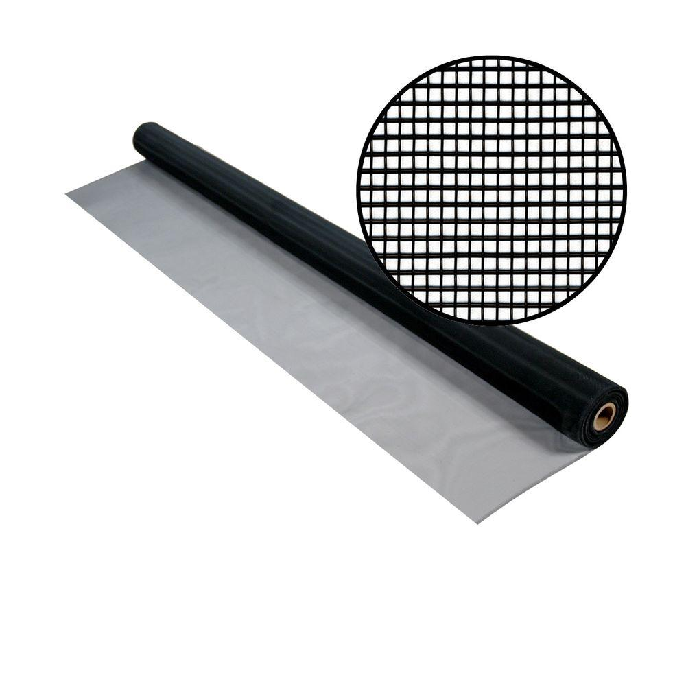 48 in. x 50 ft. Black Aluminum Screen