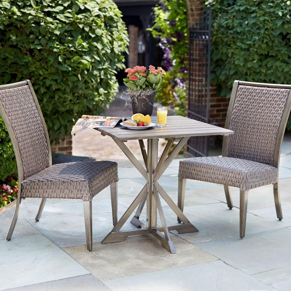 Hampton Bay Carleton Place 3-Piece Patio Bistro Set-RXHD-43-3DSET - The Home