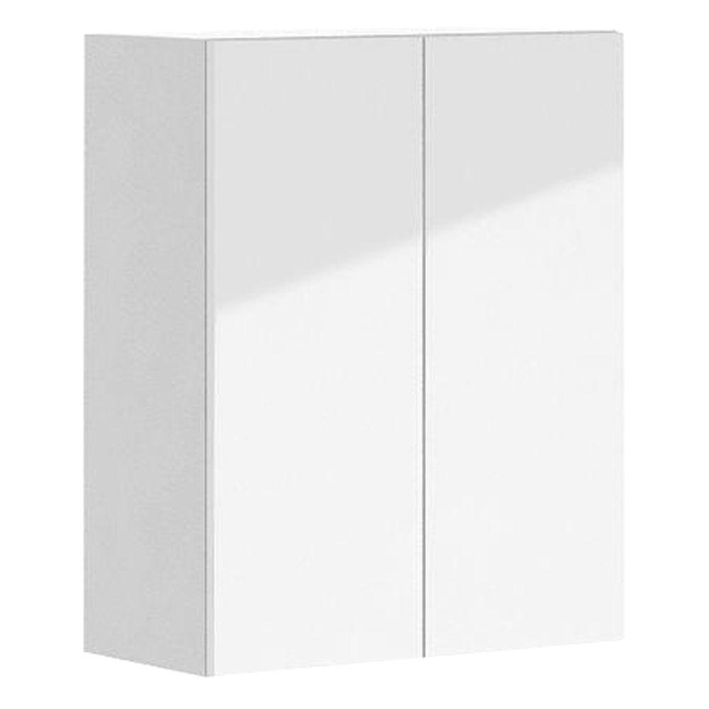 Eurostyle 24x30x12.5 in. Valencia Wall Cabinet in White Melamine and Door in White