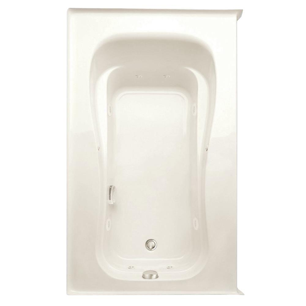 Novelli 5 ft. Left Drain Acrylic Whirlpool Bath Tub in Biscuit