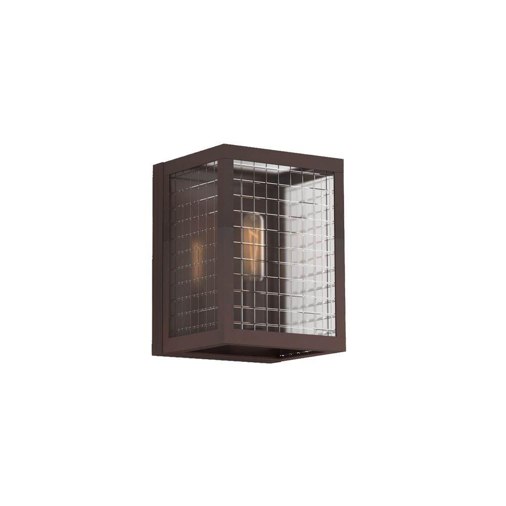 Home Decorators Collection 1-Light Oil-Rubbed Bronze Sconce with Etched Clear