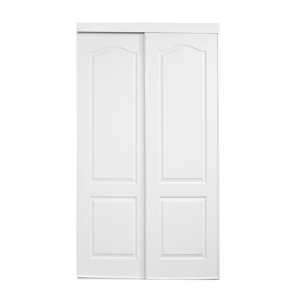47 in. x 80 in. 109 Series Bright White 2 Panel