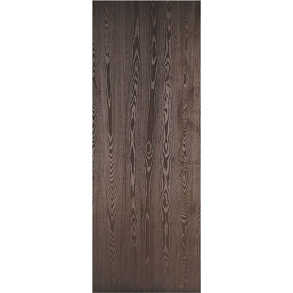 Masonite 36 In X 80 In Legacy Textured Flush Hardboard Hollow Core Walnut Veneer Composite