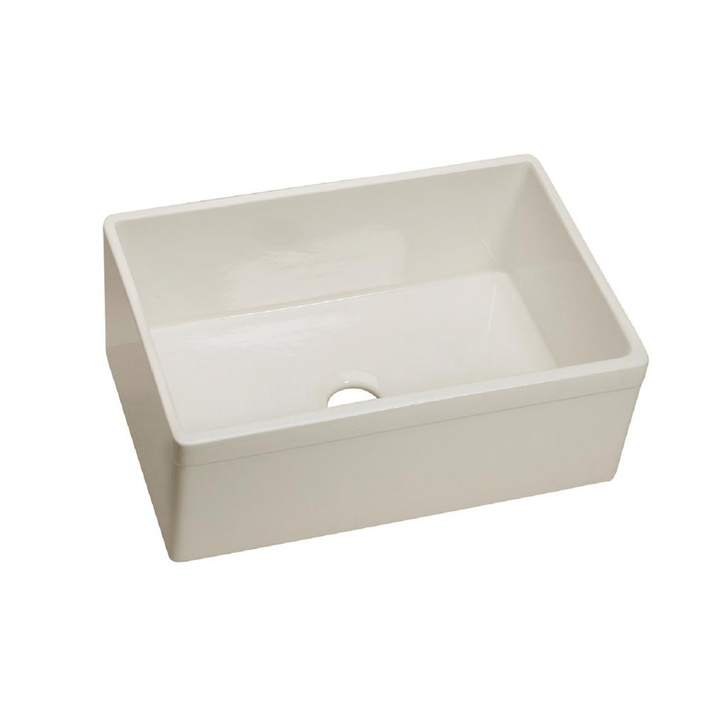 ... Undermount Apron Front Fine Fireclay 29 in. Single Bowl Kitchen Sink
