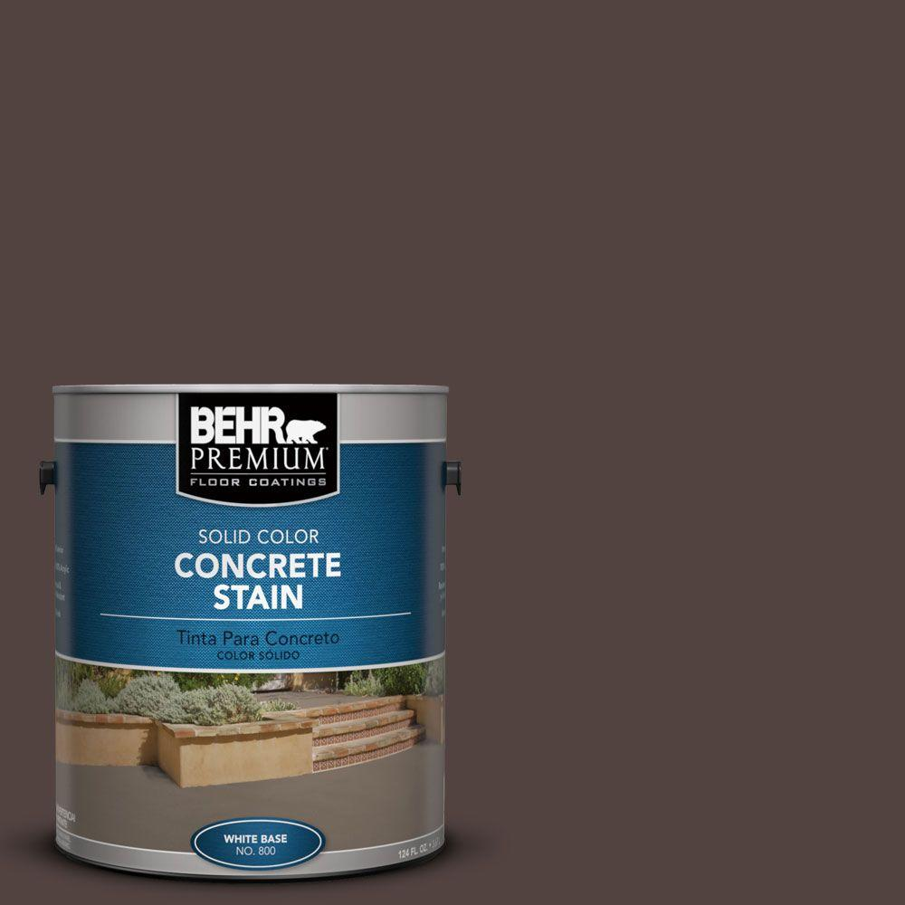 1 gal. #PFC-25 Dark Walnut Solid Color Concrete Stain