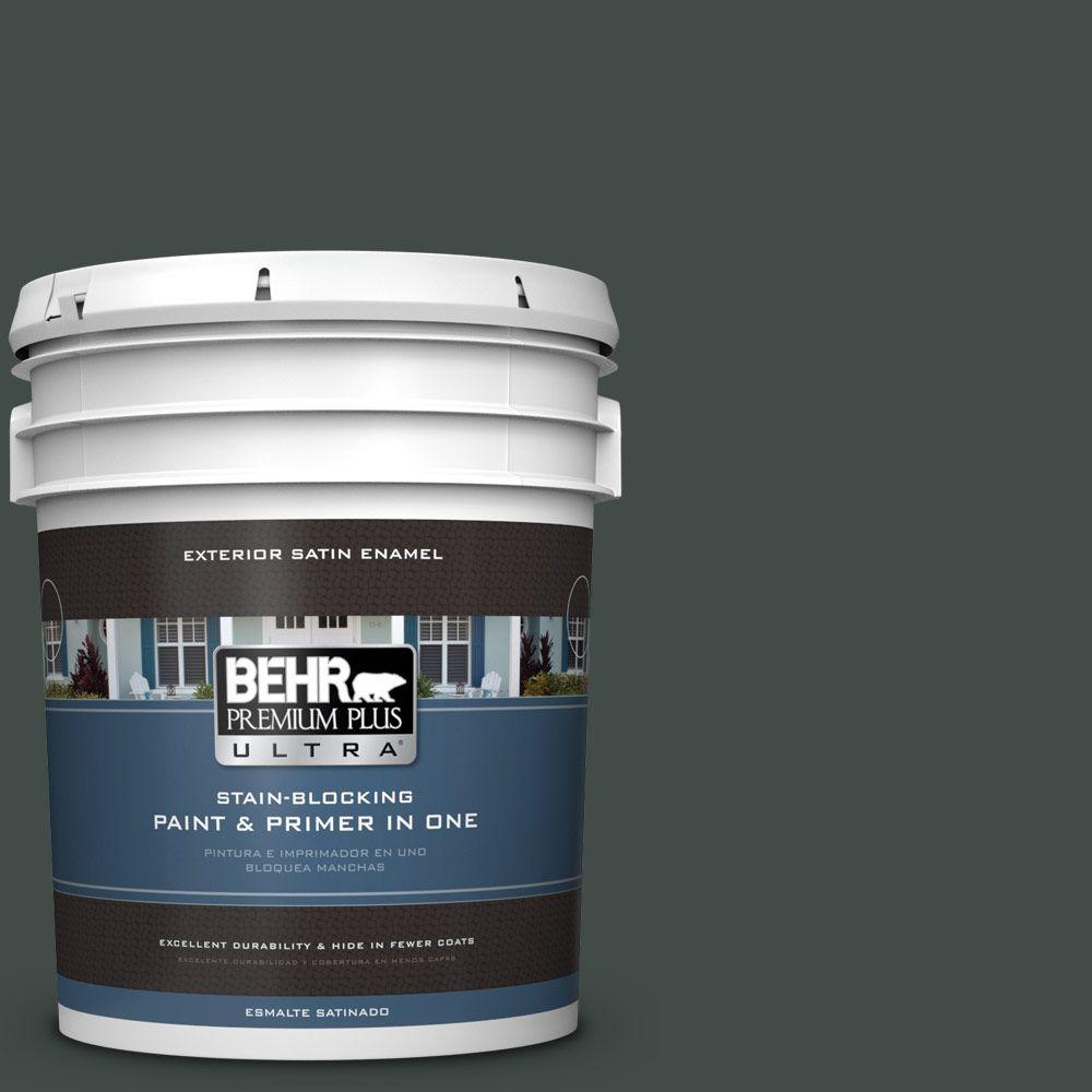 BEHR Premium Plus Ultra 5-gal. #HDC-CL-21 Sporting Green Satin Enamel Exterior Paint