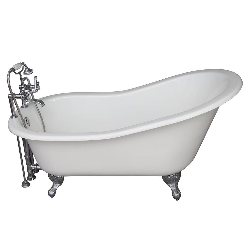 5 ft. Cast Iron Ball and Claw Feet Slipper Tub in