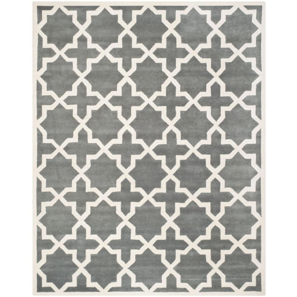 Chatham Dark Grey/Ivory 11 ft. x 15 ft. Area Rug