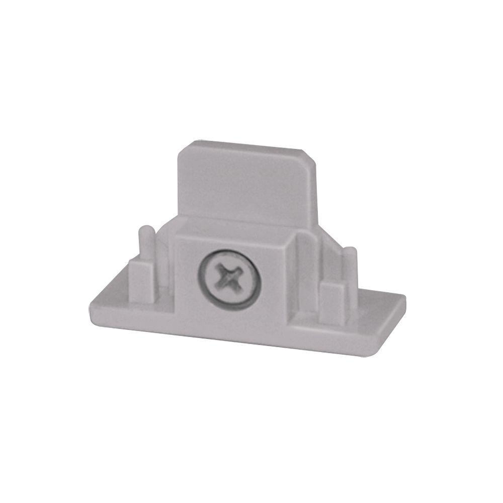 Juno Trac-Lites Silver Dead End Connector-R28SL - The Home Depot