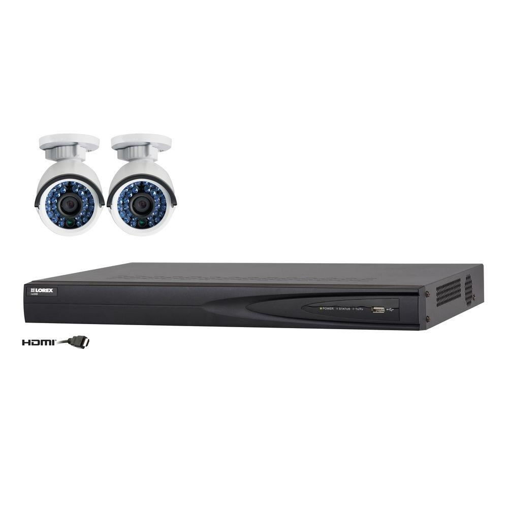 Lorex Vantage4CH 1TB Net HD NVR SurveillanceSystem with(2)1080p Indoor/Outdoor Network Cameras 100ft. NightVision-DISCONTINUED