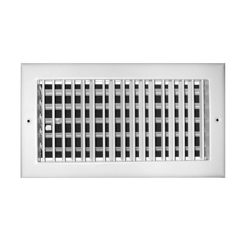 24 in. x 6 in. Steel Adjustable 1-Way Wall/Ceiling Register