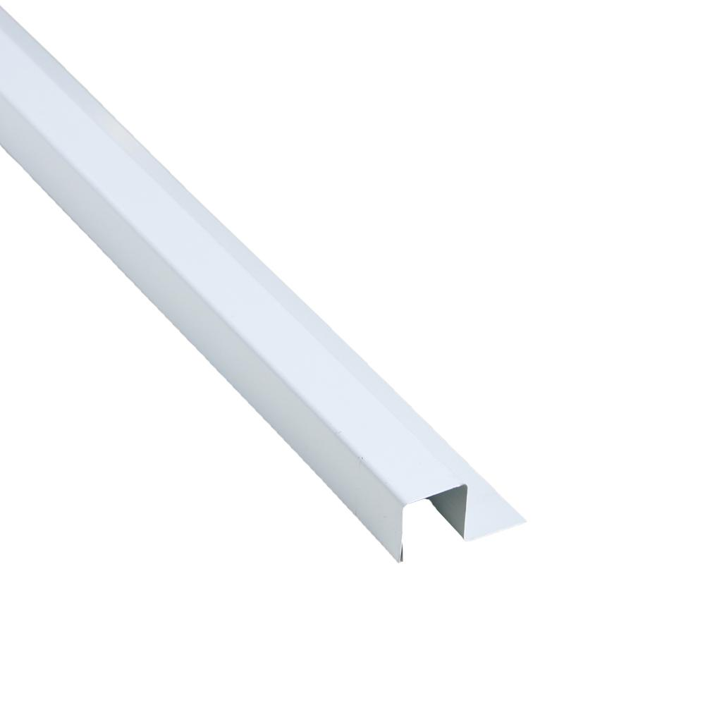 1-1/4 in. x 126 in. Bright White Steel Base Trim Flashing