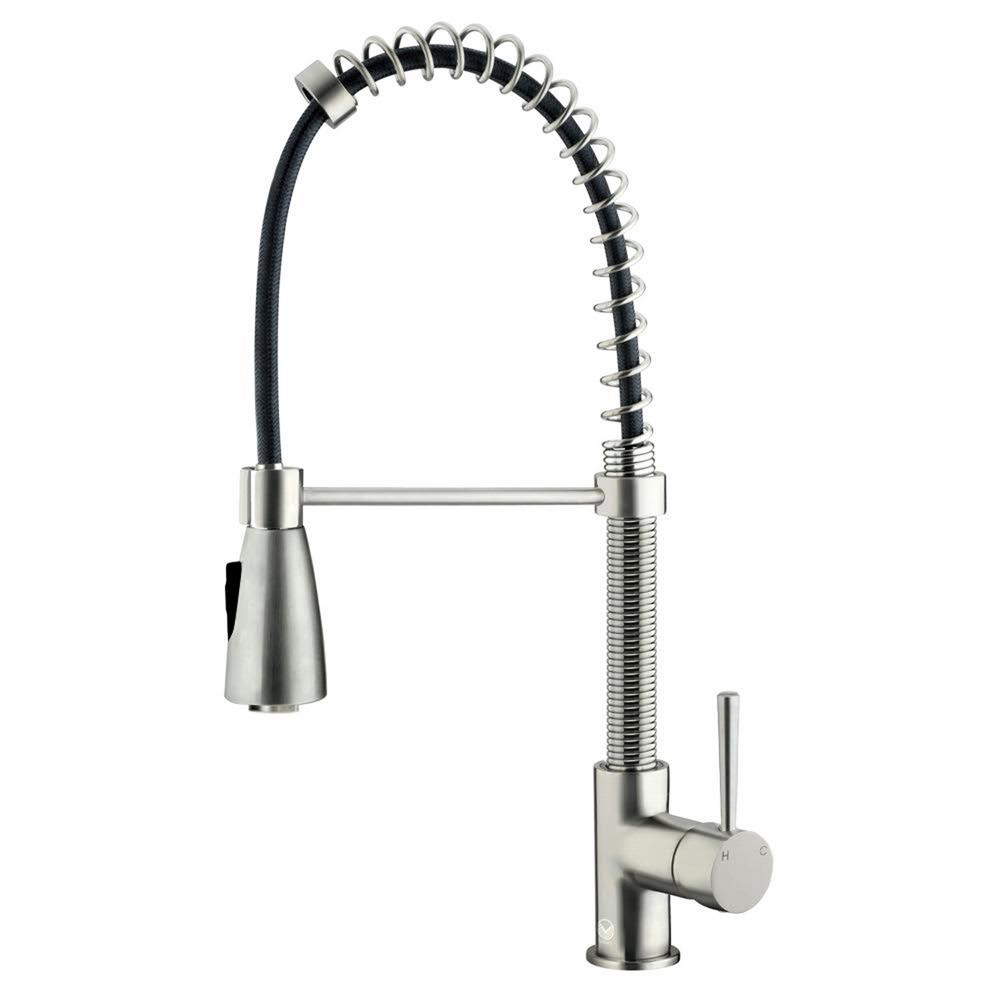 replacement kitchen faucet head Single Handle Pull Out Sprayer Kitchen Faucet in Stainless Steel