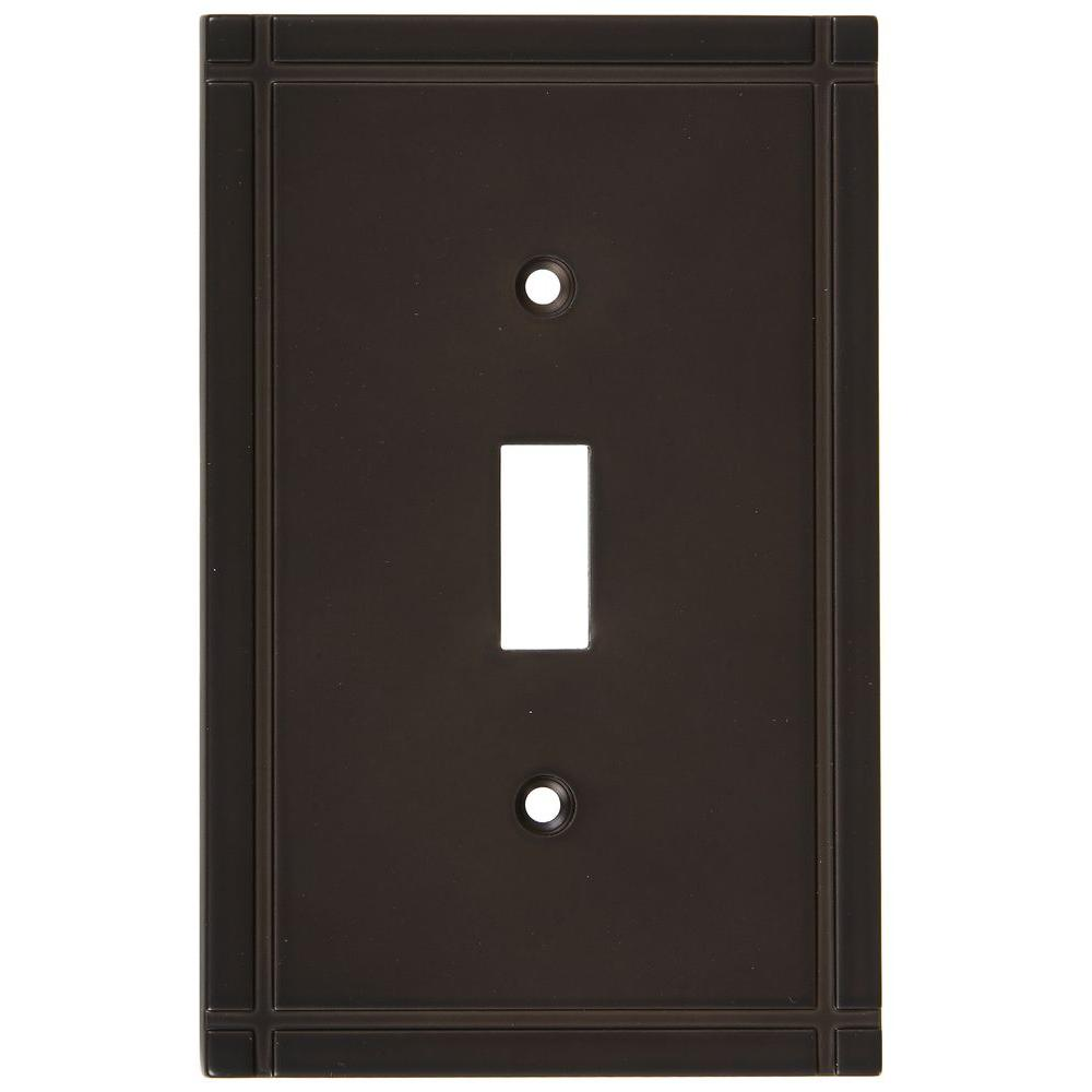 Stanley-National Hardware Ranch 1 Toggle Wall Plate - Oil Rubbed Bronze