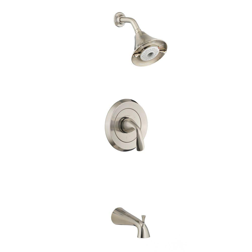 Fluent Flowise 1-Handle Tub and Shower Faucet Trim Kit in Brushed