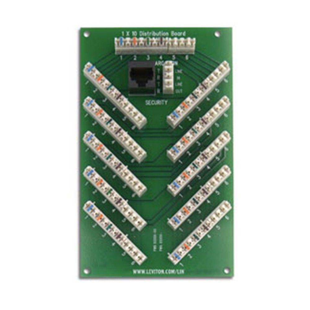 Leviton Structured Media 1x10 6-Line Bridged Telephone Expansion Board