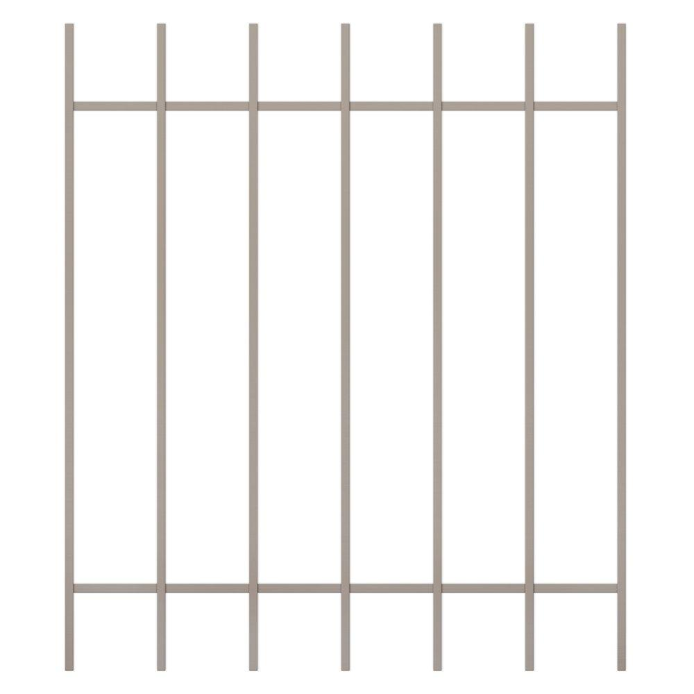 Unique Home Designs Guardian 36 in. x 42 in. Tan 7-Bar Window Guard-DISCONTINUED
