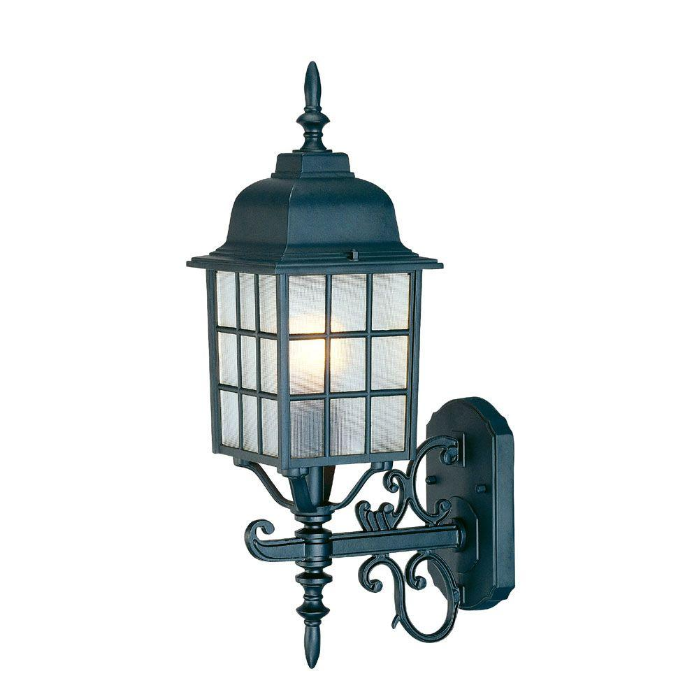 Acclaim Lighting Nautica Collection 1-Light Matte Black Outdoor Wall-Mount Light