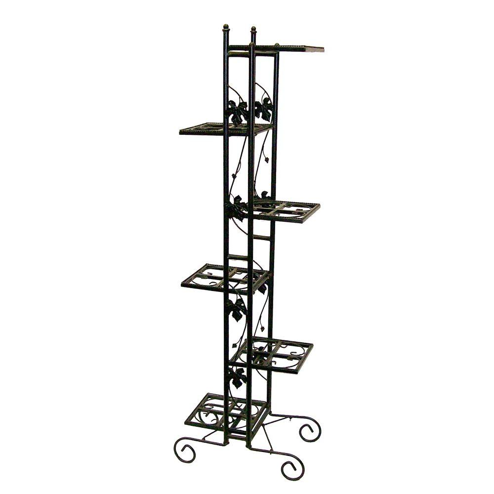 Oakland Living 6-Level Black Plant Stand