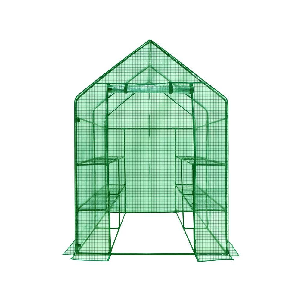 56 in. W x 56 in. D Deluxe Walk-In 2 Tier 8 Shelf Portable Lawn and Garden Greenhouse Sale $99.19 SKU: 204852559 ID: OG6868-PE UPC: 799430516983 :