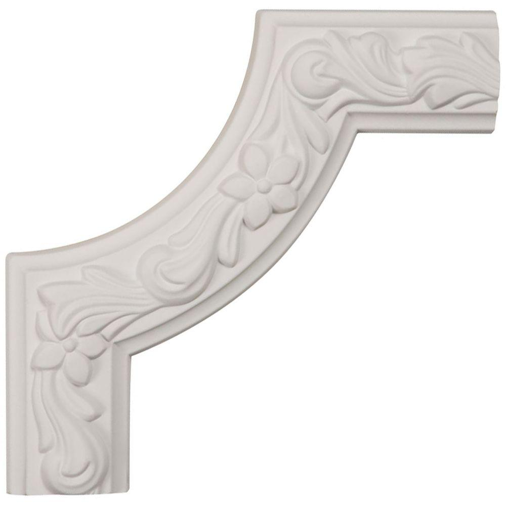Ekena Millwork 8 in. x 1-7/8 in. x 8 in. Polyurethane Sussex Floral Panel Moulding Corner