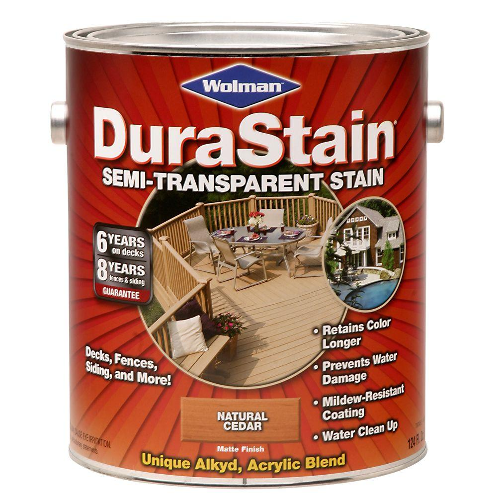 Durastain 1-gal. Semi-Transparent Water-Based Natural Cedar Exterior Wood Stain-DISCONTINUED