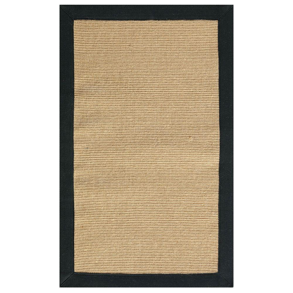 Home Decorators Collection Washed Jute Black 9 ft. 6 in. x 13 ft. Area Rug