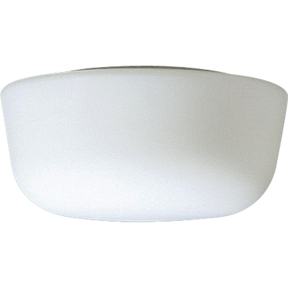 White 1-Light Flushmount