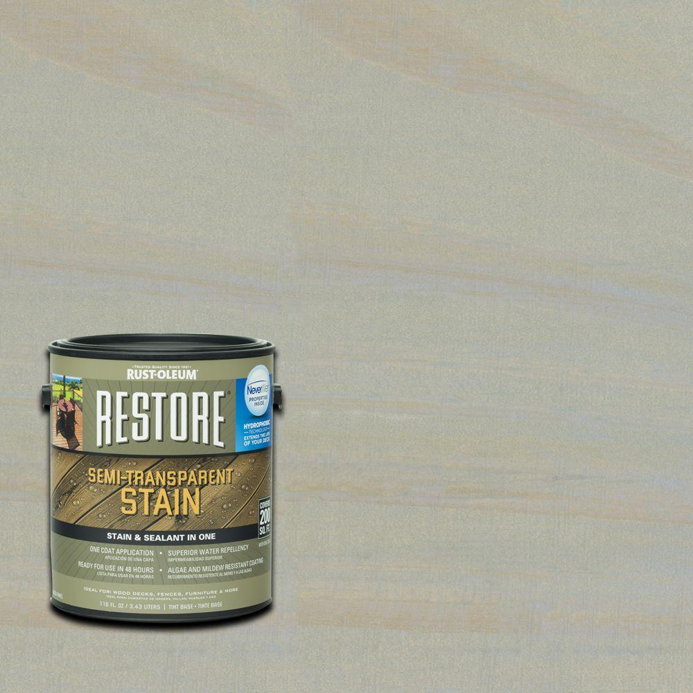 Rust-Oleum Restore 1 gal. Semi-Transparent Stain Cape Cod Gray with