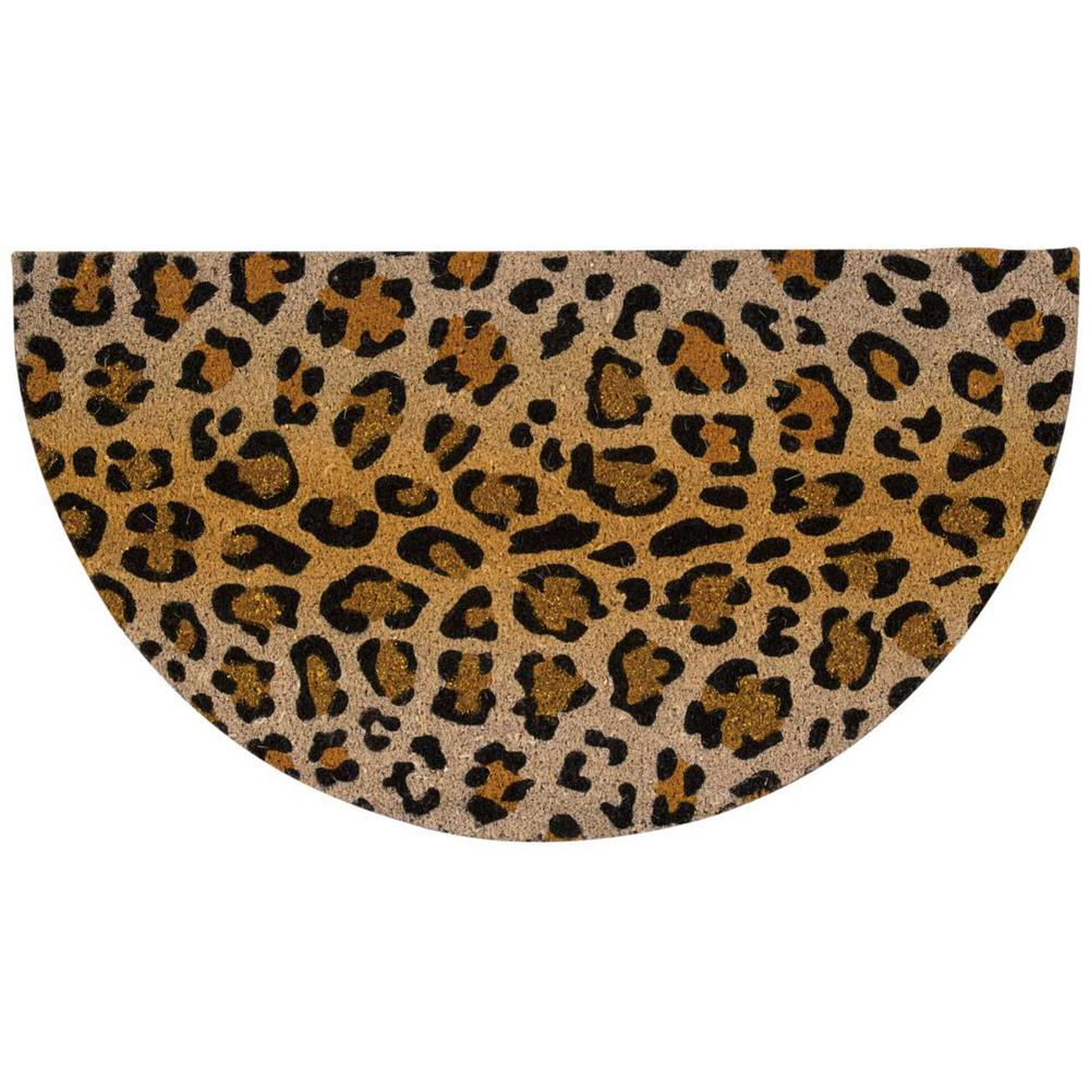 Leopard with Glitter Beige/Black 1 ft. 8 in. x 3 ft.