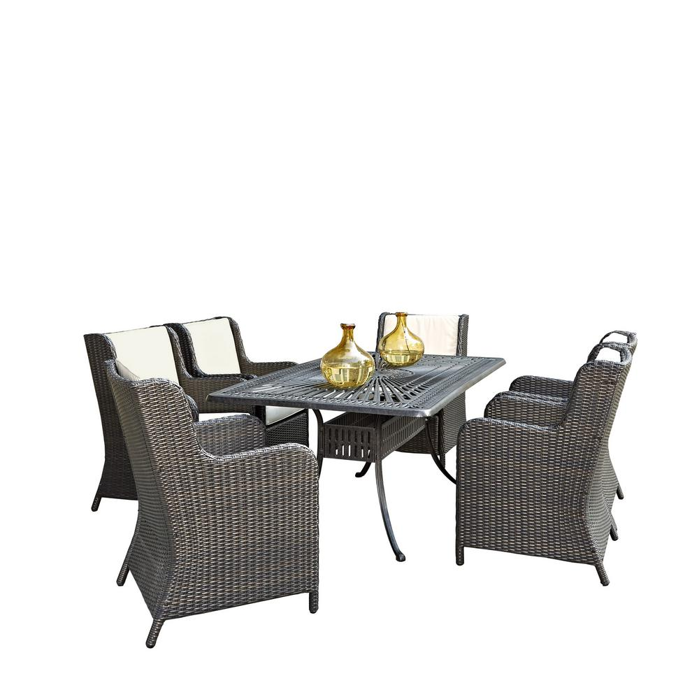 Largo 7-Piece Patio Dining Set with Riviera Chairs