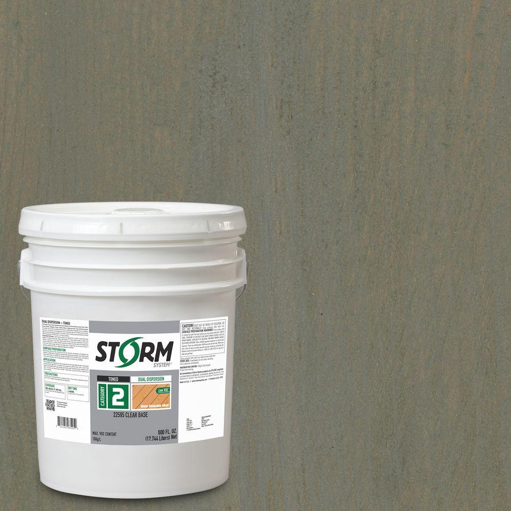 Storm System Category 2 5 gal. Canyon Pass Exterior Semi-Transparent Dual Dispersion Wood Finish