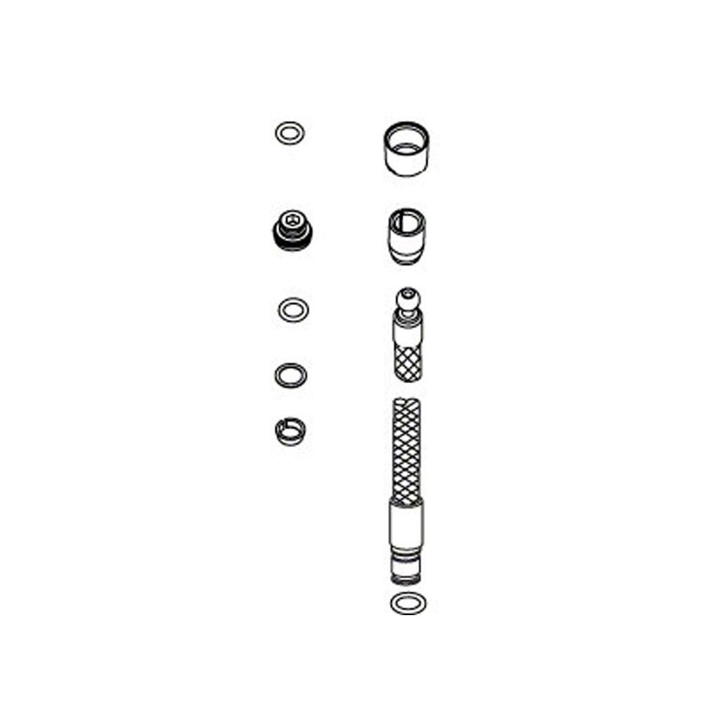 KOHLER Replacement Hose Kit, Polished Chrome-1054559-CP - The Home Depot