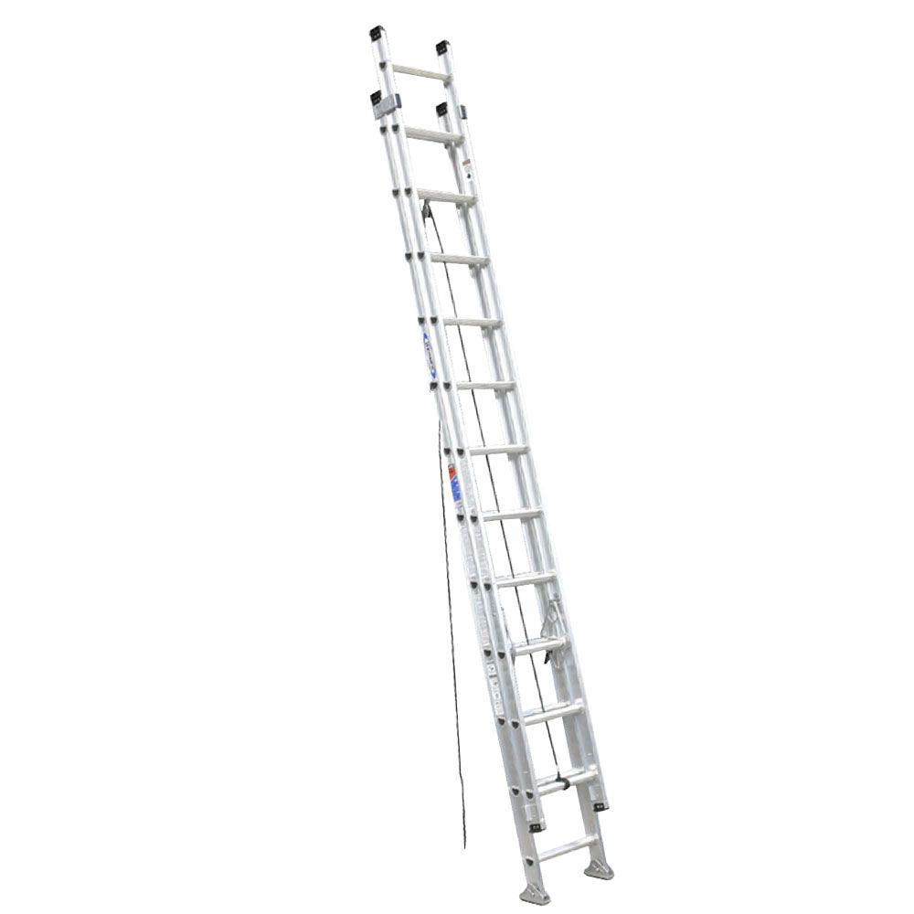 24 ft. Aluminum D-Rung Extension Ladder with 300 lb. Load Capacity