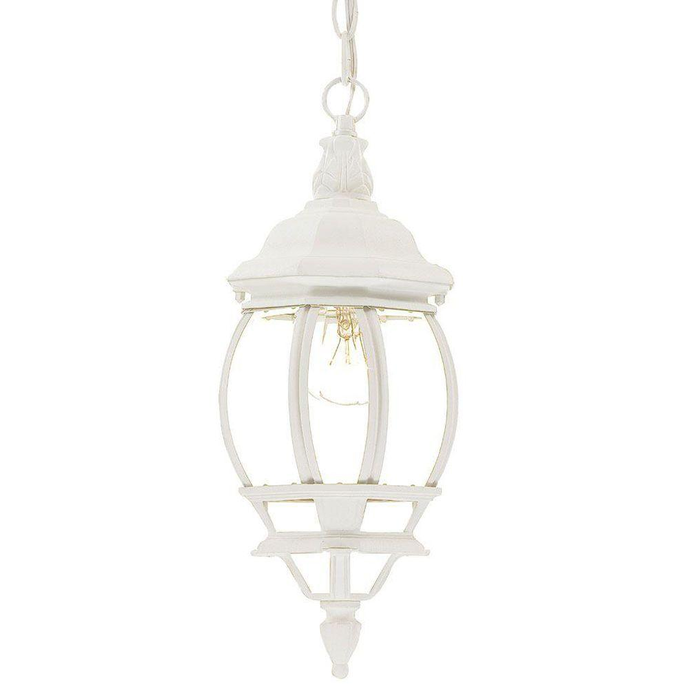 Acclaim Lighting Chateau Collection Outdoor 1-Light Hanging Textured White Lantern