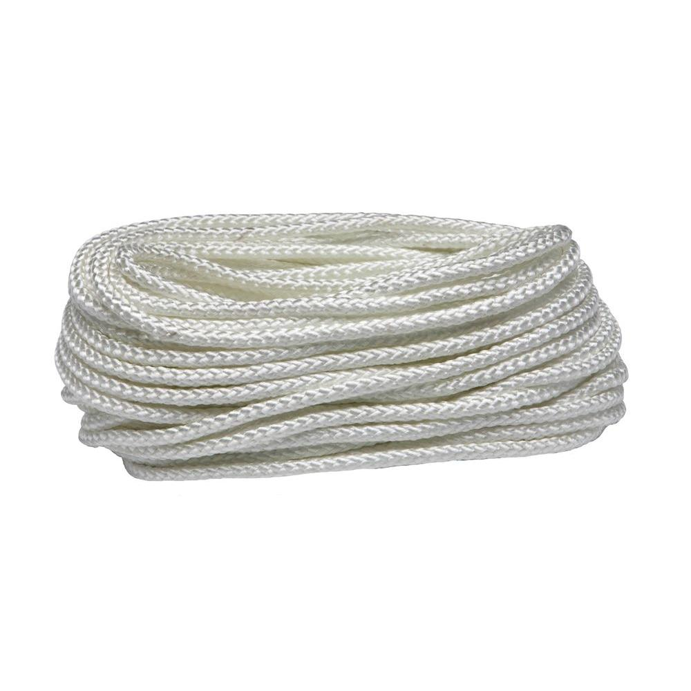 Everbilt 5/16 in. x 50 ft. White Braided Nylon and Polypropylene Rope