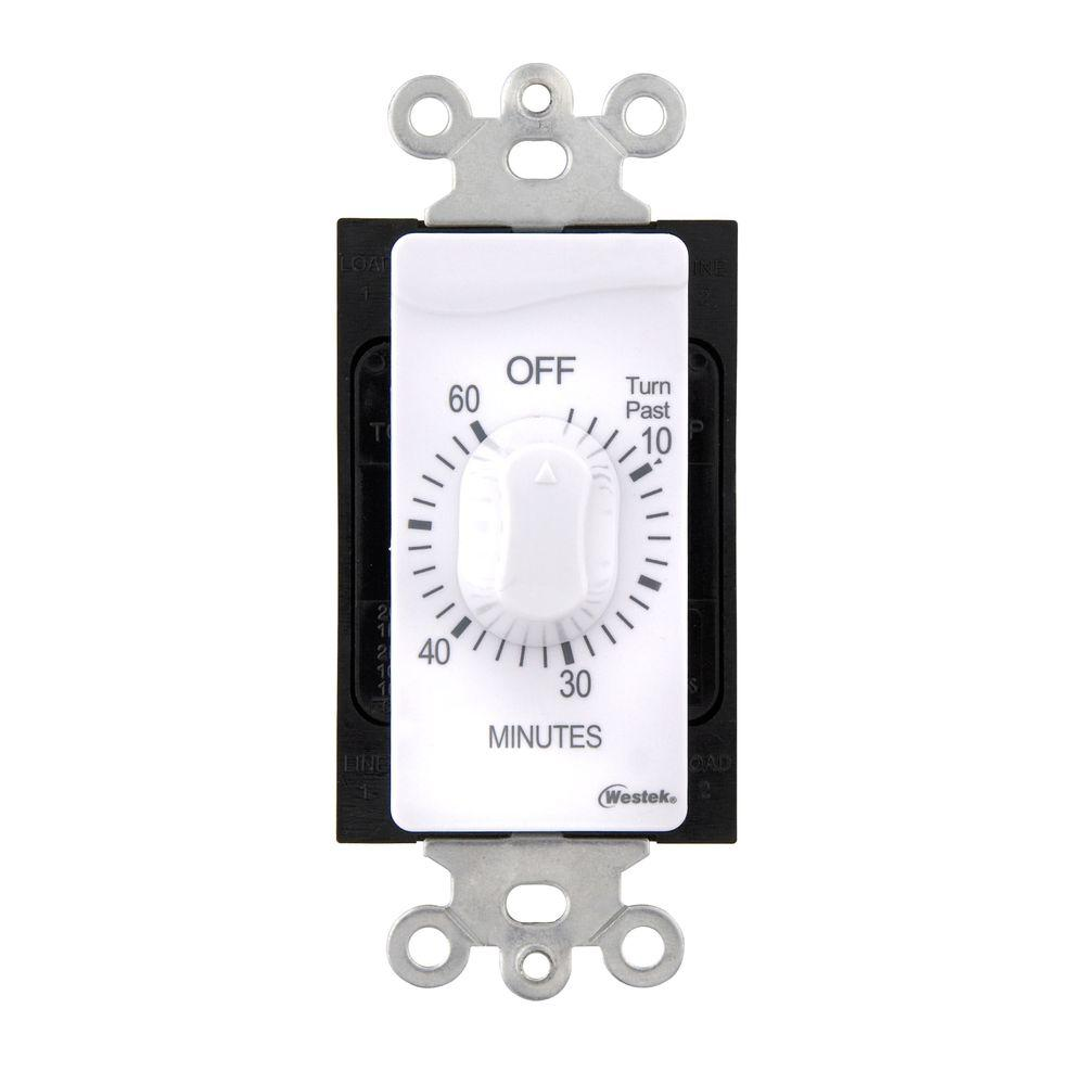 60 Min In-Wall Countdown Timer - White