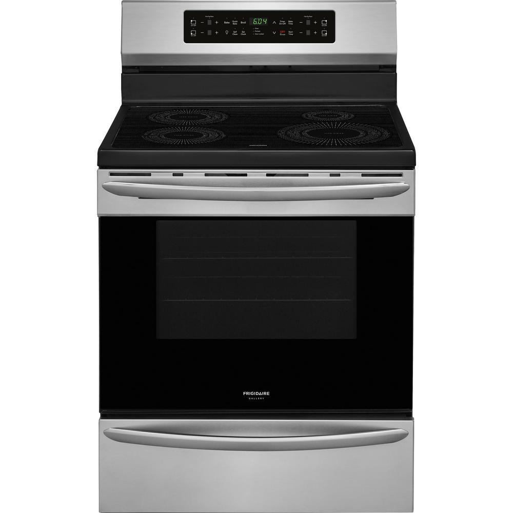 30 in. 5.4 cu. ft. Induction Range with Self-Cleaning Oven in