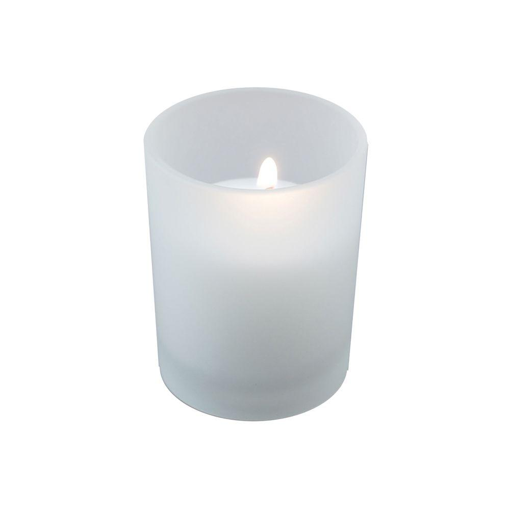 72-Count 10-Hour Votive Candles with 12 Frosted Glass Holders
