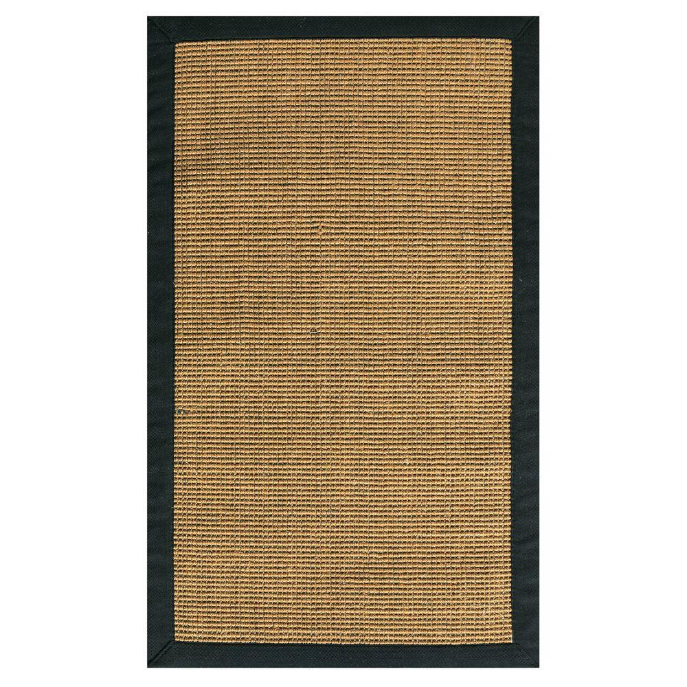 Home Decorators Collection Rio Sisal Amber and Black 5 ft. x 7 ft. 9 in. Area Rug
