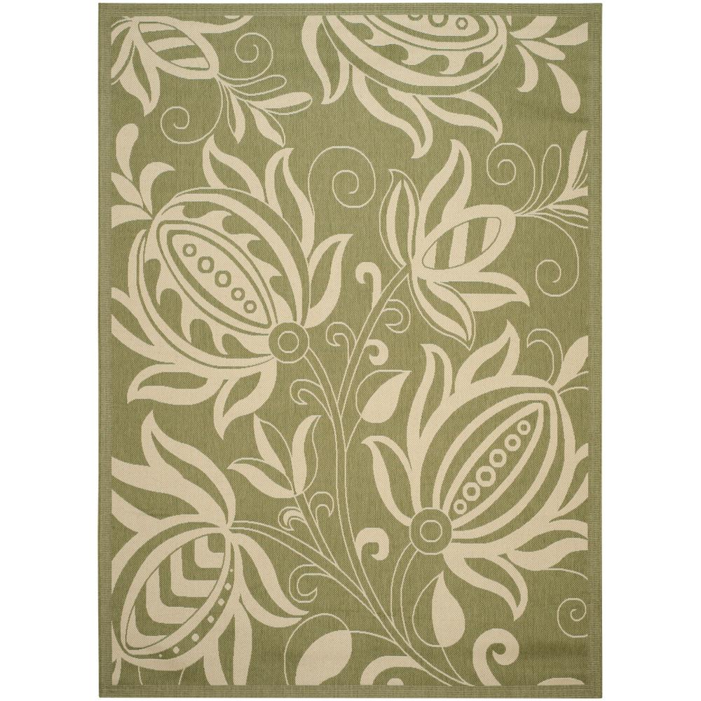 Courtyard Olive/Natural (Green/Natural) 9 ft. x 12 ft. Indoor/Outdoor Area Rug Sale $217.27 SKU: 205199707 ID: CY2961-1E06-9 UPC: 683726594284 :