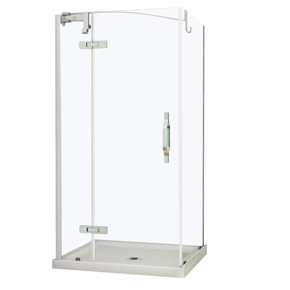 MAAX Urbano 34 in. x 42 in. x 81 in. Standard Fit Corner Shower Kit with Clear Glass in Chrome-DISCONTINUED